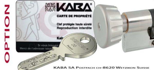 Cylindre Kaba 20 bouton
