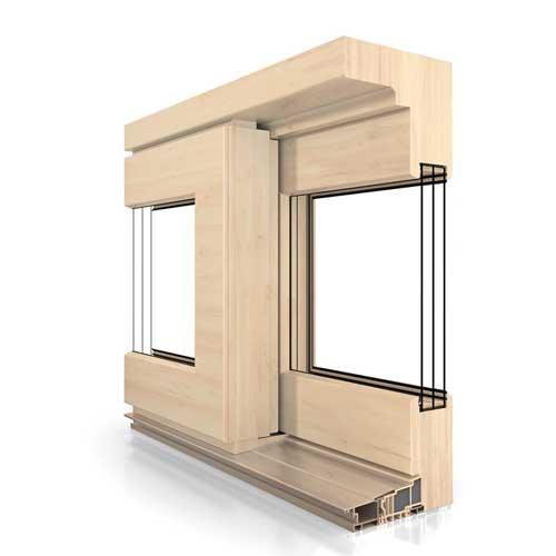 Fenêtre bois coulissante par levage HST